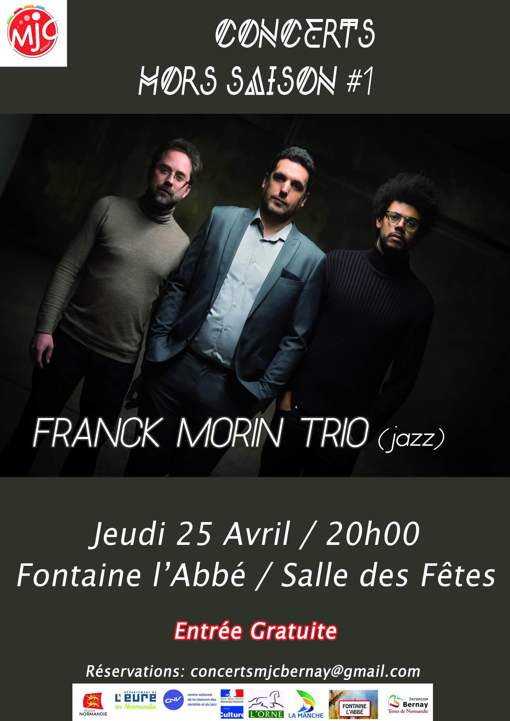 concert Mjc Franck morin trio 25 avril